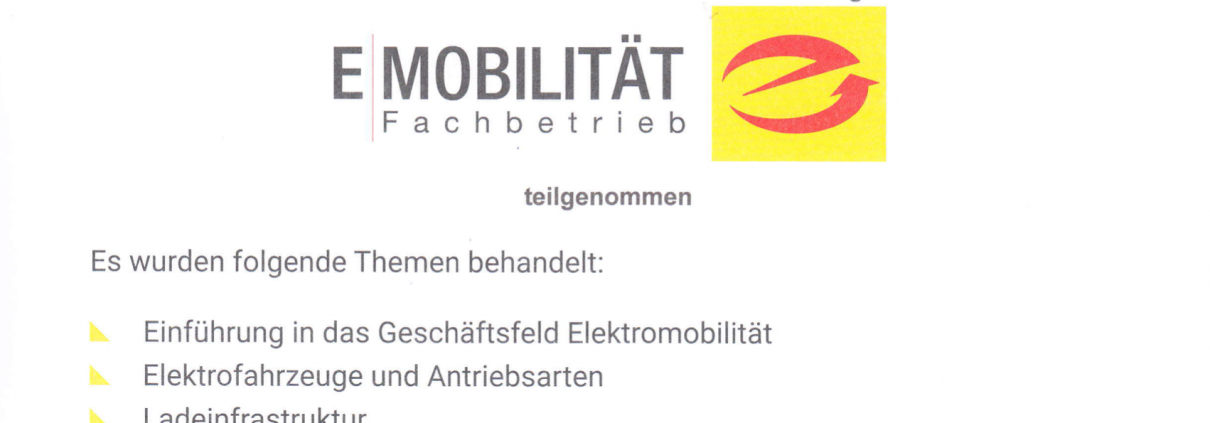 Elektriker für eMobilität Stuttgart